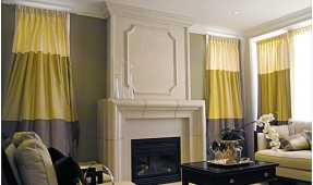 fireplace-mantel-distinctive-rounded-edges